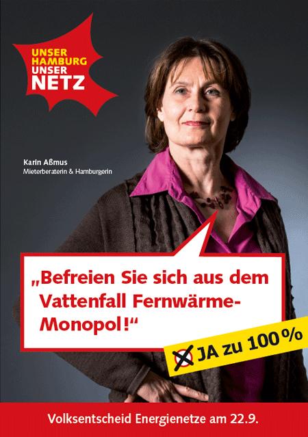 Flyer Vattenfall Fernwärme Monopol UNSER HAMBURG - UNSER NETZ