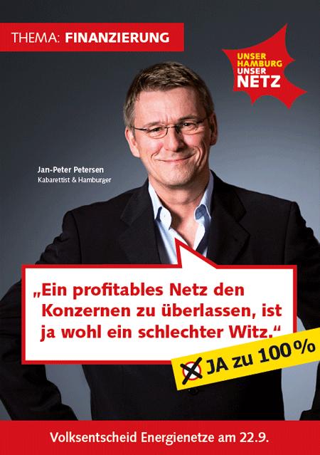 Infoflyer: Thema Finanzierung UNSER HAMBURG - UNSER NETZ